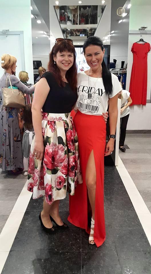 З моєю клієнткою та другом відомим українським дизайнером, власником торгової марки FRIDAY на відкритті її нового магазину.