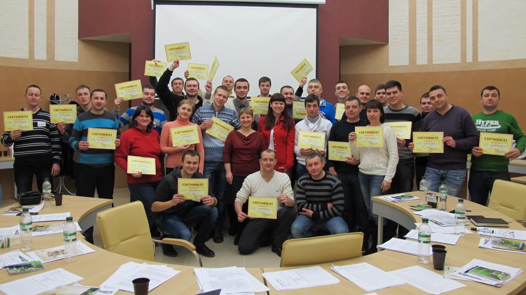 Урочисте вручння сертифікатів після  тренінгу  ТзОВ «Снєжка-Україна»