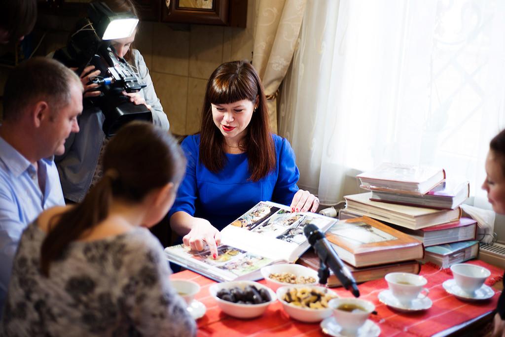 Під час інтерв'ю для ТВ